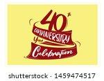 40 year anniversary red ribbon  ...   Shutterstock .eps vector #1459474517