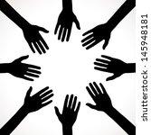black hands background | Shutterstock .eps vector #145948181