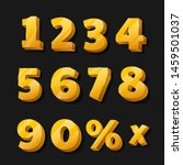 golden numbers for discounted... | Shutterstock .eps vector #1459501037