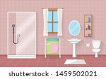 classic bathroom interior clean ... | Shutterstock .eps vector #1459502021
