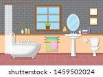classic bathroom interior clean ... | Shutterstock .eps vector #1459502024