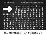 arrow vector icon isolated set. ... | Shutterstock .eps vector #1459505894