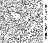 sea creatures doodles vector... | Shutterstock .eps vector #1459506584