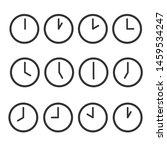 set of clock icons vector... | Shutterstock .eps vector #1459534247