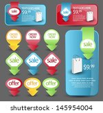 web element set | Shutterstock .eps vector #145954004