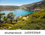 small beautiful bay and the... | Shutterstock . vector #145955969