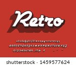 font. modern retro 3d  font... | Shutterstock .eps vector #1459577624