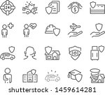 set of insurance icons  such as ... | Shutterstock .eps vector #1459614281