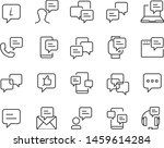 set of communication icons ... | Shutterstock .eps vector #1459614284
