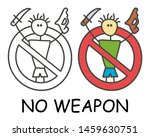 funny vector stick man with a... | Shutterstock .eps vector #1459630751
