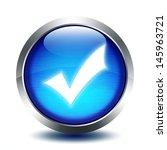 blu glass button   validation | Shutterstock . vector #145963721