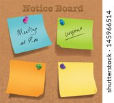 various angle sticky note. | Shutterstock .eps vector #145966514