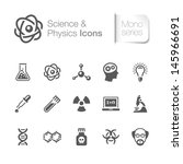 science   physics related icons | Shutterstock .eps vector #145966691