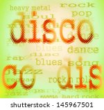 disco abstract colorful word... | Shutterstock . vector #145967501