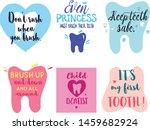 set of six dental posters in... | Shutterstock .eps vector #1459682924