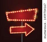 vector red rectangular retro... | Shutterstock .eps vector #1459704167