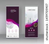 vertical banner stand... | Shutterstock .eps vector #1459705907