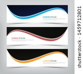abstract wave banner template ... | Shutterstock .eps vector #1459712801