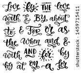vector handwritten catchwords... | Shutterstock .eps vector #1459715411