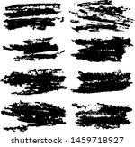 black paint brush strokes ...   Shutterstock .eps vector #1459718927