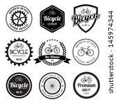 set of  bicycle retro vintage... | Shutterstock .eps vector #145974344