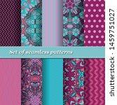 set of trendy seamless floral... | Shutterstock .eps vector #1459751027