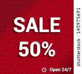 sale 50  template paper   sales ... | Shutterstock .eps vector #145975691