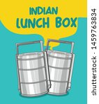 indian tiffin or lunch box... | Shutterstock .eps vector #1459763834