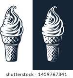 ice cream illustration on white ...   Shutterstock .eps vector #1459767341