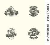 muscle car logo template in... | Shutterstock .eps vector #1459772861