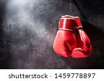 Pair Of Red Boxing Gloves...