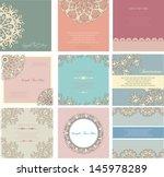 set of baroque invitation cards ... | Shutterstock .eps vector #145978289