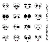 cartoon eyes and mouths. set of ...   Shutterstock .eps vector #1459783934