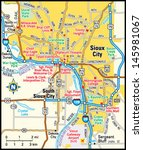 sioux city  iowa area map   Shutterstock .eps vector #145981067