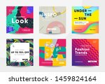 trendy square banners for... | Shutterstock .eps vector #1459824164