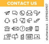 contact us  call center vector... | Shutterstock .eps vector #1459834907