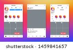 screen interface in social... | Shutterstock .eps vector #1459841657