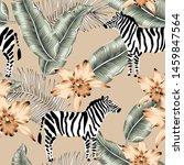 tropical zebra  orchid flowers  ... | Shutterstock .eps vector #1459847564