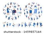 business people vector set....   Shutterstock .eps vector #1459857164