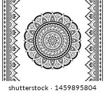set of mandala pattern and... | Shutterstock .eps vector #1459895804