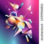 abstract background  of 3d ... | Shutterstock .eps vector #1459906841