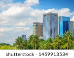 city with green forest in the... | Shutterstock . vector #1459913534