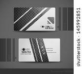 business card design.  vector... | Shutterstock .eps vector #145992851