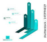 minimal infographics design.... | Shutterstock .eps vector #145994819