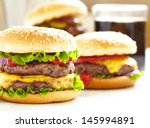 classic burgers | Shutterstock . vector #145994891