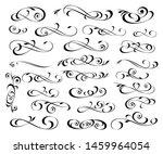 set of  decorative flourish... | Shutterstock .eps vector #1459964054