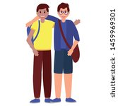 happy young men character on... | Shutterstock .eps vector #1459969301