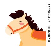 rocking horse toy baby on white ... | Shutterstock .eps vector #1459982711