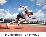 young muscular athlete is at... | Shutterstock . vector #145998389