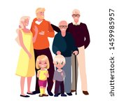 family parents kids group people | Shutterstock .eps vector #1459985957